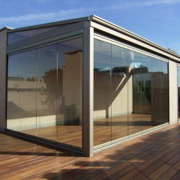 jardinera cerramiento cortina cristals